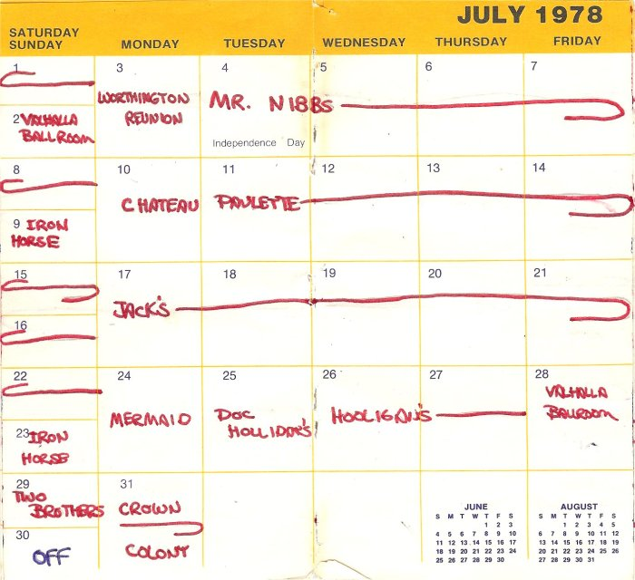 A very busy month with only one day off!