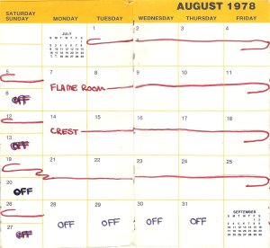 Another busy month, but a few days off at the end of August.