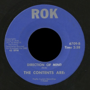 """The first record recorded by The Contents Are: on ROK records """"Direction of Mind"""""""