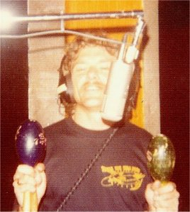 "Paul with maracas on one of the cuts for ""Sailing on Fantasies""."