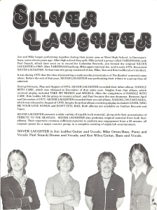 Page 2 - A little history of Silver Laughter.