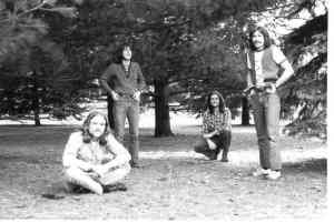From left: Paul Staack (eventually joins Silver Laughter), Mick Orton, Craig Hute and Dave Neumann (the one that got away).