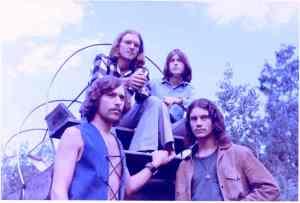 The Contents Are: - from left: Dave Neumann (front left), Paul Staack (behind him), Mick Orton and Craig Hute (front right).