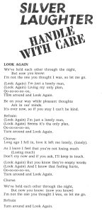 "Lyrics for ""Look Again"""