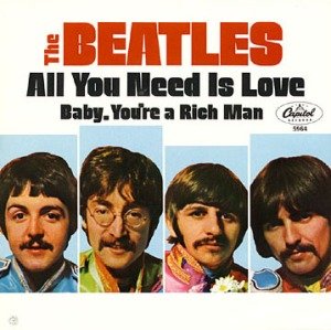"""All You Need Is Love"" 45 cover."