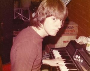 Mick Orton rehearsing the piano