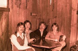 Silver Laughter 1977: Ken, Jon, Paul and Mick