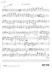 """""""Lover"""" Cello Chart"""