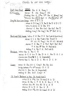 Very rare chord charts