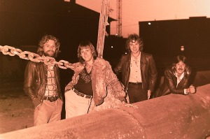 Silver Laughter 1978 - Paul (Bunyan), Mick (the poof), Jon (the pirate) and Ken (always cool)
