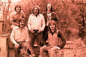 Silver Laughter 1976 - top standing: Mick, Paul, Carl, Ken and Jon are seated