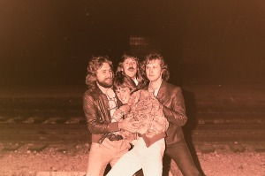 Silver Laughter - 1978: Paul, Ken and Jon mugging me for Mick's coat?