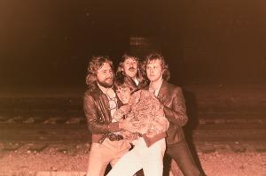 Silver Laughter - 1978: Paul, Ken and Jon mugging me for Mick's coat?