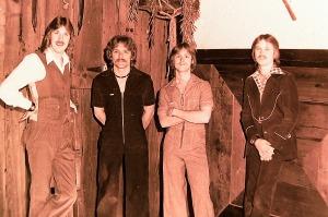 Silver Laughter - 1977 - Ken, Paul, Mick and Jon
