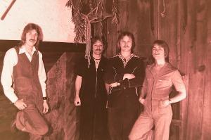 Silver Laughter 1977 - Ken, Paul, Jon and Mick