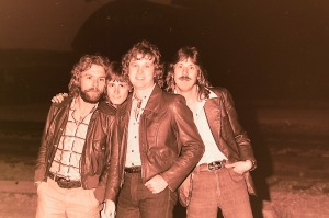 Silver Laughter 1978 - Paul, Mick's head, Jon and Ken