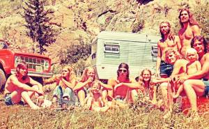 Hippie Days - Mick Orton on the left and Dave Neumann and John Zimmer standing