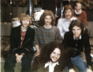 SILVER LAUGHTER-LAST NIGHT - Kim, Denny, Jon (in the white shirt), Carl (behind Jon), Mark (in front of Jon), Steve below