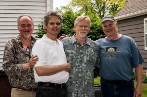 Silver Laughter 2014 - Mark Zaputil (guitar), Steve Elliott (guitar), Kim Ludtke (drums) and Jon Ludtke (guitar)