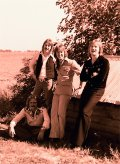 Silver Laughter 1976 - Ken, Mick, Jon standing, Paul seated