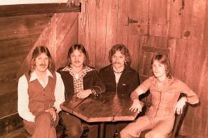 Silver Laughter 1977 - Ken, Jon, Paul and Mick