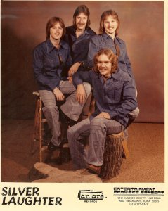 From left to right clockwise: Mick, Ken, Jon and Paul (Sailing on Fantasies)