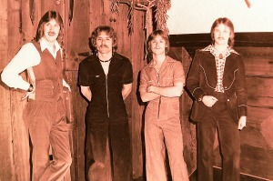 Silver Laughter 1977 - Ken, Paul, Mick and Jon