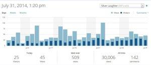 Wordpress Statistics 7-31-14