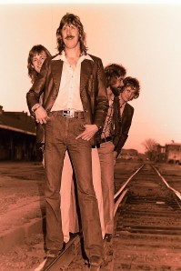 Silver Laughter 1978 - Mick's head, Ken, Paul and Jon