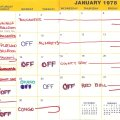 Jan. 1978 Booking Calendar