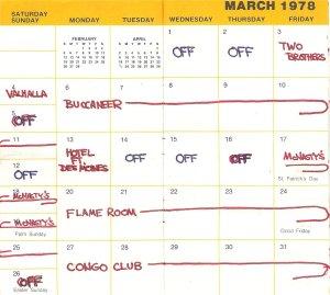 1978-March calendar