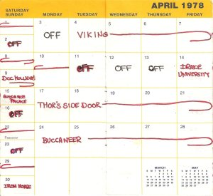 1978-April calendar