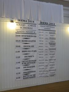 IRRMA Concert Schedule 2014