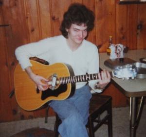 Mark Zaputil rehearsing 1974