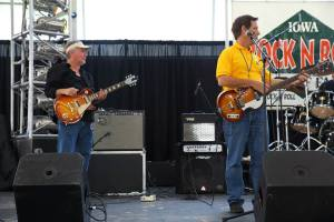 Mark and Mick at sound check in Okoboji