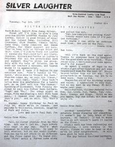 Newsletter May 1977