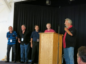 Silver Laughter 2014 for the meet and greet: Paul, Mark, Mick and Kim - Jon missing in action