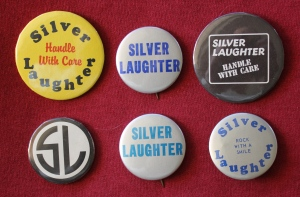 Silver Laughter buttons