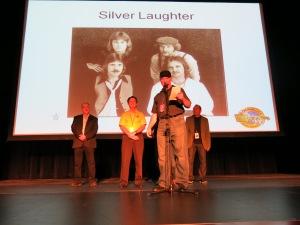 Jonny Silver making the speech