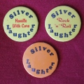 Silver Laughter mirror buttons