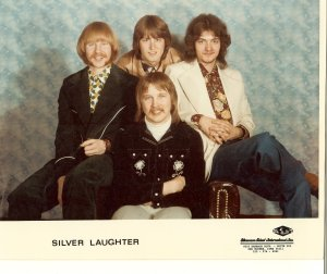Silver Laughter 1975 - Kim, Mick, Mark and Jon in front