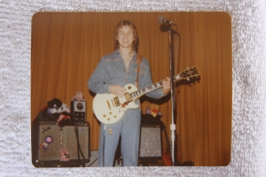 Jon with his white Les Paul