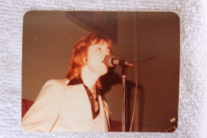 Mick performing in a gymnasium