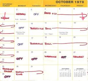 October 1978 calendar