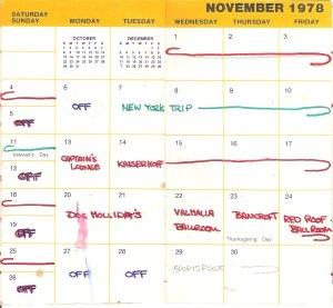 November 1978 Calendar