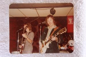 Mick and Jon onstage