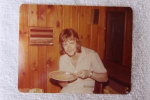 Mick eating a Carl creation