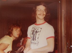 Mick on bass with Carl in the foreground