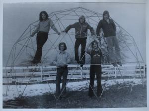 It looks cold! Clockwise from top - Steve Elliott, Kim Ludtke, John Carstensen, Jon Ludtke in his reindeer sweater and Denny Walton