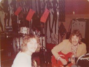Jon and Ken rehearsing guitar parts